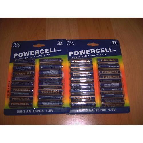 lot de 320 piles lr6 powercell neuf batterie chargeur avis et prix pas cher cdiscount. Black Bedroom Furniture Sets. Home Design Ideas