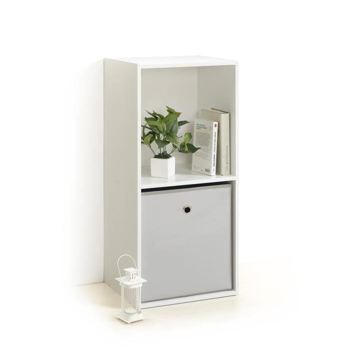 Module 2 cubes de rangement blanc achat vente meuble tag re module 2 cub - Cubes de rangement mural ...