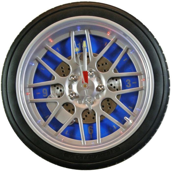 Grande horloge murale pneu auto tuning lumineus achat for Mecanisme pour pendule murale
