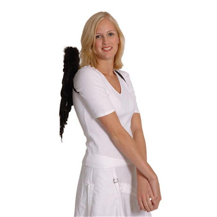 ailes d 39 ange noires plumes 50 x 50 cm religieux achat vente accessoire d guisement. Black Bedroom Furniture Sets. Home Design Ideas