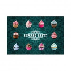 tapis de cuisine cupcake party 40 x 60 cm achat vente tapis les soldes sur cdiscount. Black Bedroom Furniture Sets. Home Design Ideas