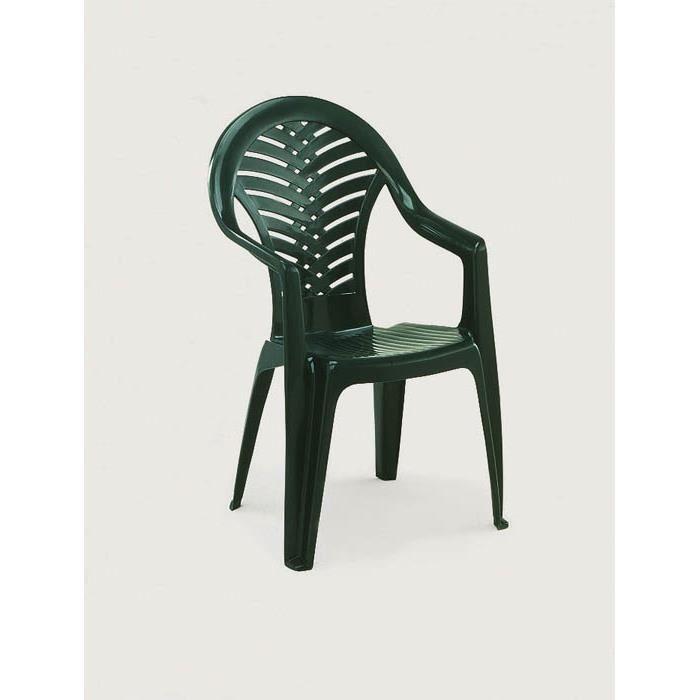 Lot 8 chaises de jardin en plastique vert ocean achat for Lot chaise de jardin