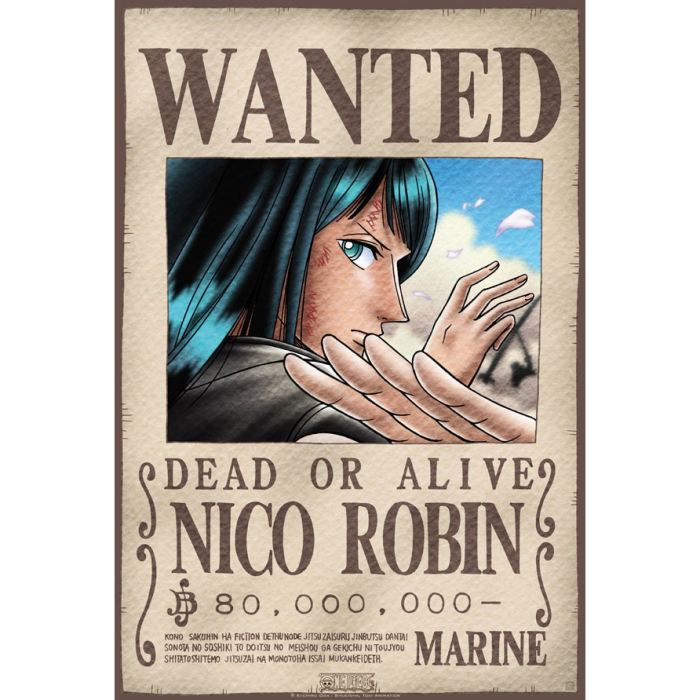 Poster one piece 39 wanted robin 39 52x38cm achat vente - Affiche one piece wanted ...