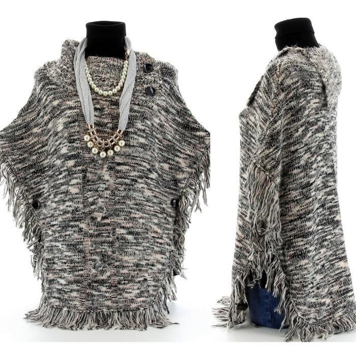 poncho cape laine tricot alphonsine femme achat vente pull cadeaux de no l cdiscount. Black Bedroom Furniture Sets. Home Design Ideas