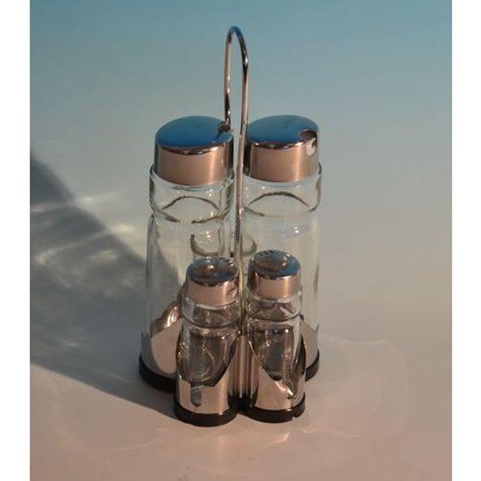 Table cook support sel poivre huile vinaigre achat - Desherbant vinaigre blanc sel ...