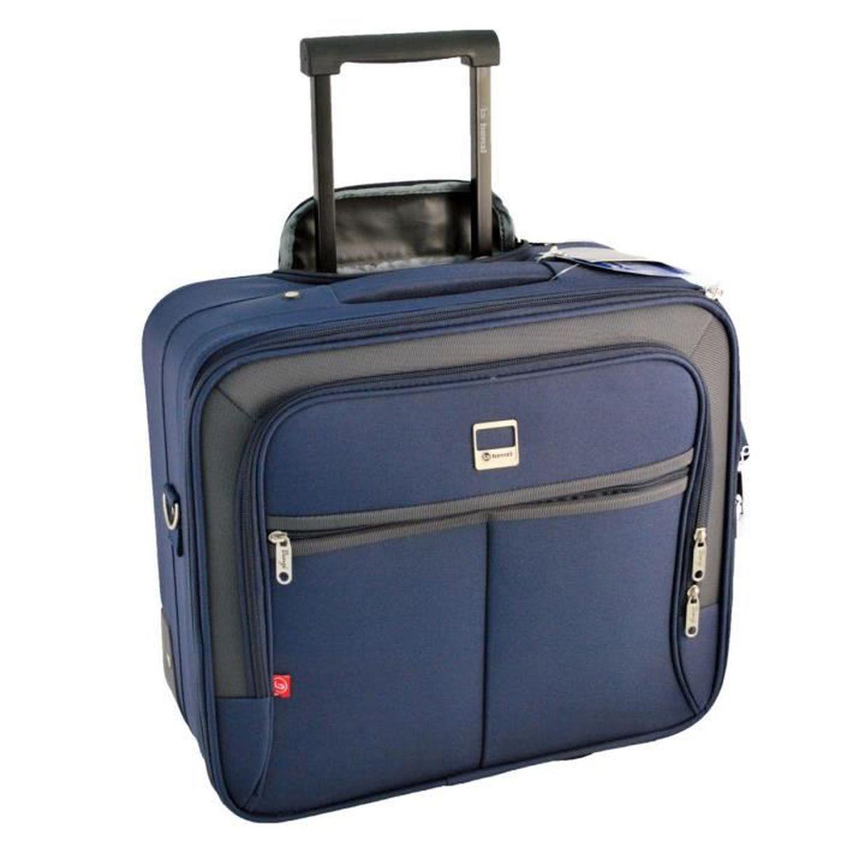 pilot case trolley bleu marine valise pour ordinateur bleu bleu achat vente valise. Black Bedroom Furniture Sets. Home Design Ideas