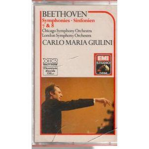 CD MUSIQUE CLASSIQUE BEETHOVEN SYMP 7/8 GUILINI - Cassette audio