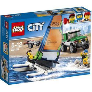 ASSEMBLAGE CONSTRUCTION LEGO® City 60149 Le 4x4 avec Catamaran