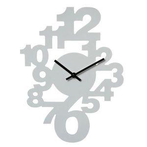 Horloge murale Chiffres Couleur Blanche