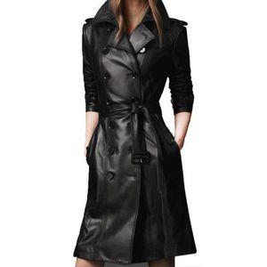 manteau long cuir femme achat vente manteau long cuir. Black Bedroom Furniture Sets. Home Design Ideas