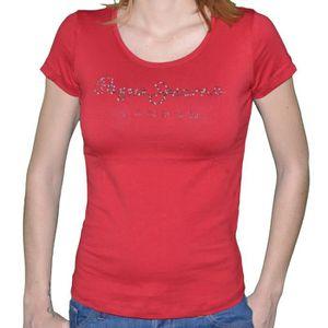 T-SHIRT Pepe Jeans - T Shirt Manches Courtes - Femme - Pup