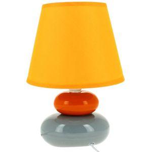 Lampe design zen forme galets en c ramique orange achat for Lampe de chevet zen