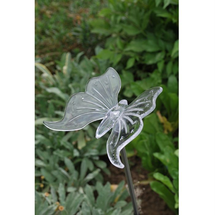 D coration lumineuse nergie solaire papillon achat for Decoration jardin lumineuse