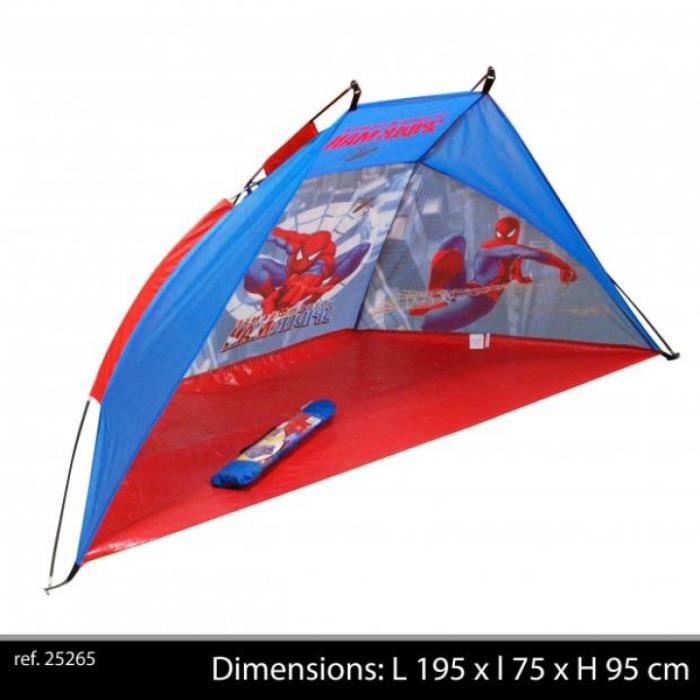 Tente de plage enfants spiderman 195 x 75 x 95 cm achat vente tente tunnel d 39 activit - Tente de plage ikea ...