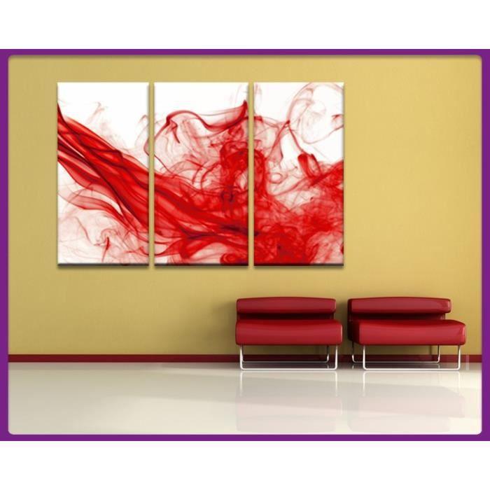 Bilderdepot24 tableau toile fum e art abstrait 90x60cm 3 pi c - Vente tableau abstrait ...
