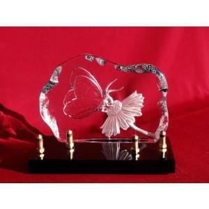 plaque fun raire verre papillon achat vente plaque. Black Bedroom Furniture Sets. Home Design Ideas