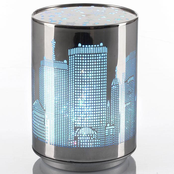 lampe veilleuse change de couleurs city new york achat vente lampe veilleuse change de c. Black Bedroom Furniture Sets. Home Design Ideas
