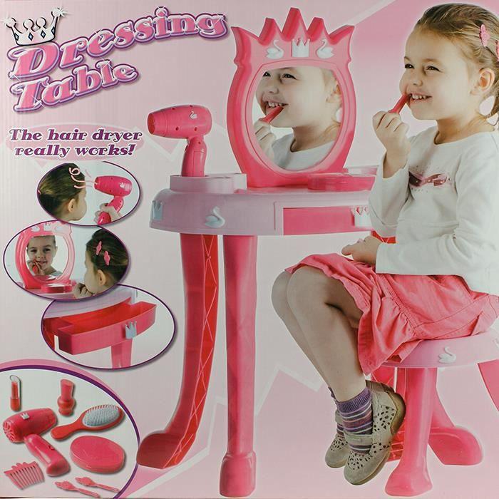 Coiffeuse table de maquillage pour enfants achat vente coiffeur esth tique cdiscount for Coiffeuse pour enfant
