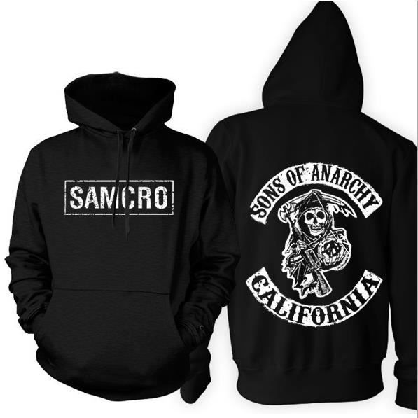 sons of anarchy hoodie samcro veste homme manteau sweatshirts sweats v tements photo achat. Black Bedroom Furniture Sets. Home Design Ideas