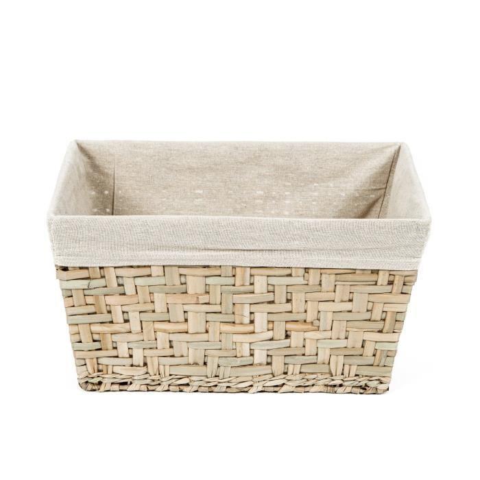 Compactor panier de rangement fiesta moyen mod le beige achat vente casier pour meuble jonc - Panier metallique rangement ...