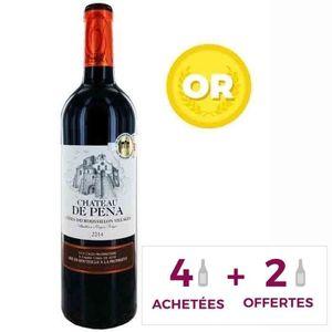 VIN ROUGE 4+2 Château de Pena Côtes Roussillon Villages  AOP