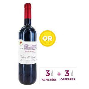 VIN ROUGE Vallon d'Arche AOC Bordeaux 2014 - Vin rouge x6