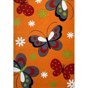 TAPIS PAPILLON Tapis pour enfant 80x150 cm orange, gris