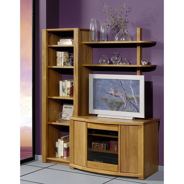 Meuble t l olympe 3p orme weng achat vente for Meuble tele wenge