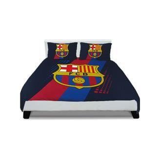 Parure de lit double fc barcelone achat vente parure de lit cdiscount - Cdiscount parure de lit ...