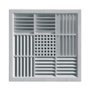 grille ventilation carr e pvc pour faux plafonds 340x340mm encastrer achat vente vmc. Black Bedroom Furniture Sets. Home Design Ideas