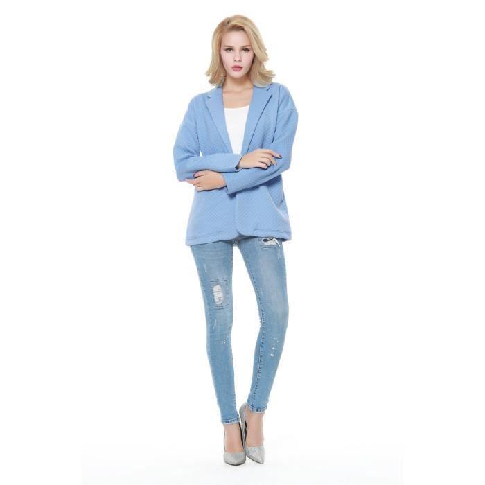 blazer femme bleu clair. Black Bedroom Furniture Sets. Home Design Ideas