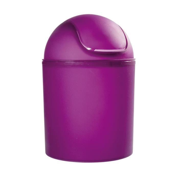 poubelle couvercle en plastique violet capac achat vente poubelle corbeille poubelle. Black Bedroom Furniture Sets. Home Design Ideas