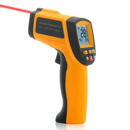 Thermomètre infrarouge sans contact Ciblage par laser et ajustement d