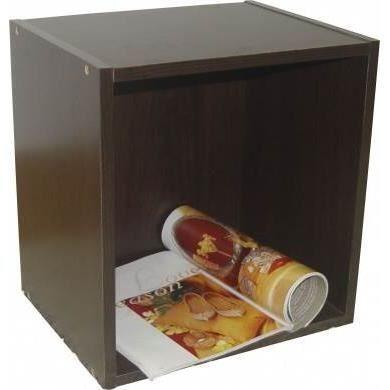 cube de rangement mini chocolat pour livres journaux magazines et cd dvd achat vente boite. Black Bedroom Furniture Sets. Home Design Ideas