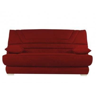 canap clic clac en microfibre tulsa avec matelas achat. Black Bedroom Furniture Sets. Home Design Ideas