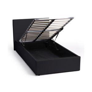 lit 90x190 avec rangements achat vente lit 90x190 avec rangements pas cher cdiscount. Black Bedroom Furniture Sets. Home Design Ideas