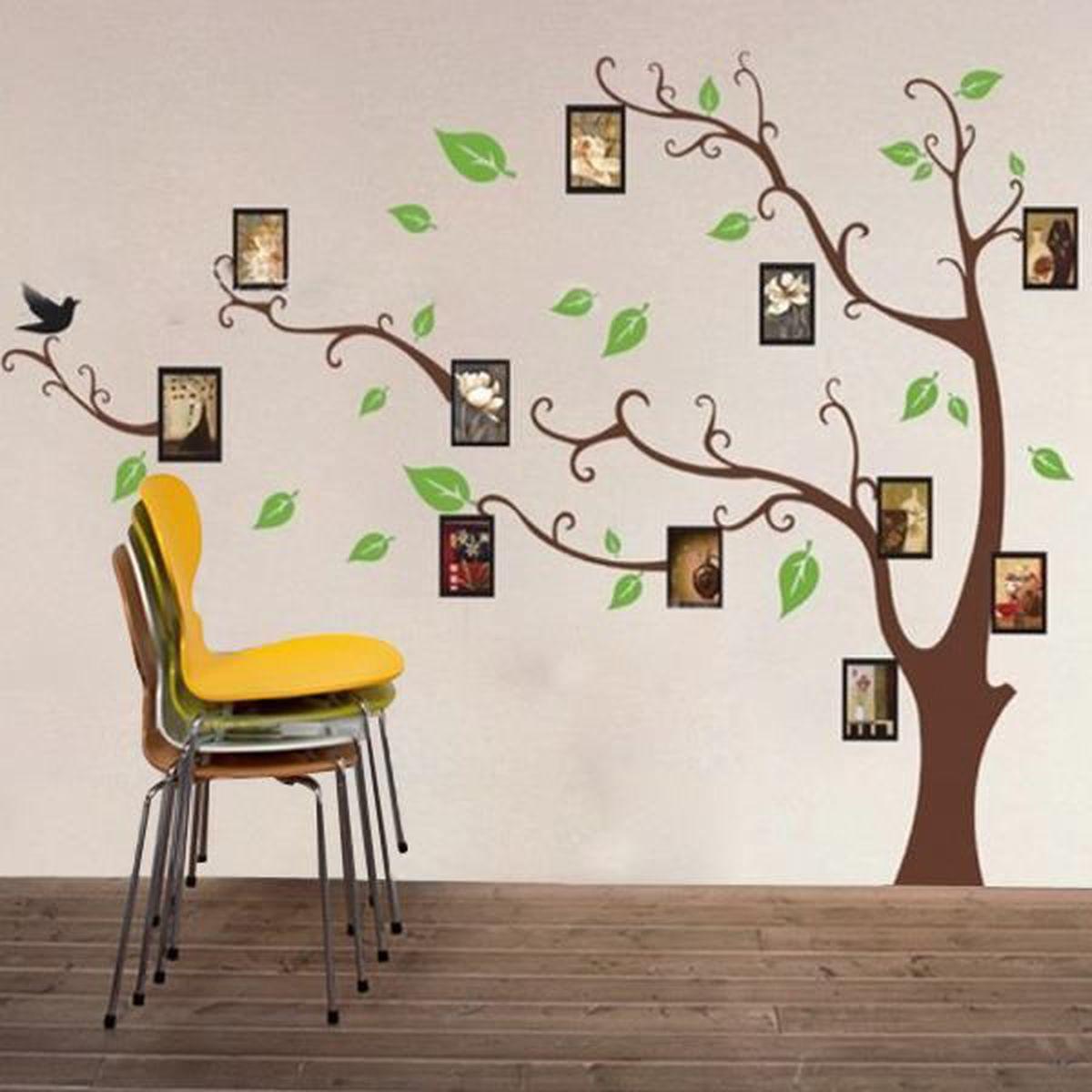 Sticker mural arbre photo autocollant d coration d cor diy for Autocollant mural arbre