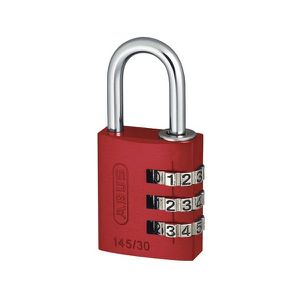SERRURE - BARILLET CADENAS ABUS A CHIFFR.30MM ROUGE Abus