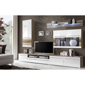 meuble mur tv achat vente meuble mur tv pas cher. Black Bedroom Furniture Sets. Home Design Ideas