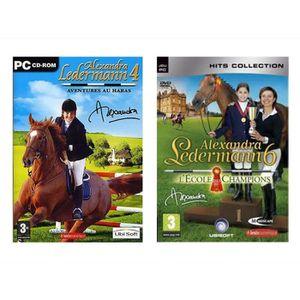 JEU PC Pack 2 jeux Alexandra Ledermann 4 et 6 - Jeux PC