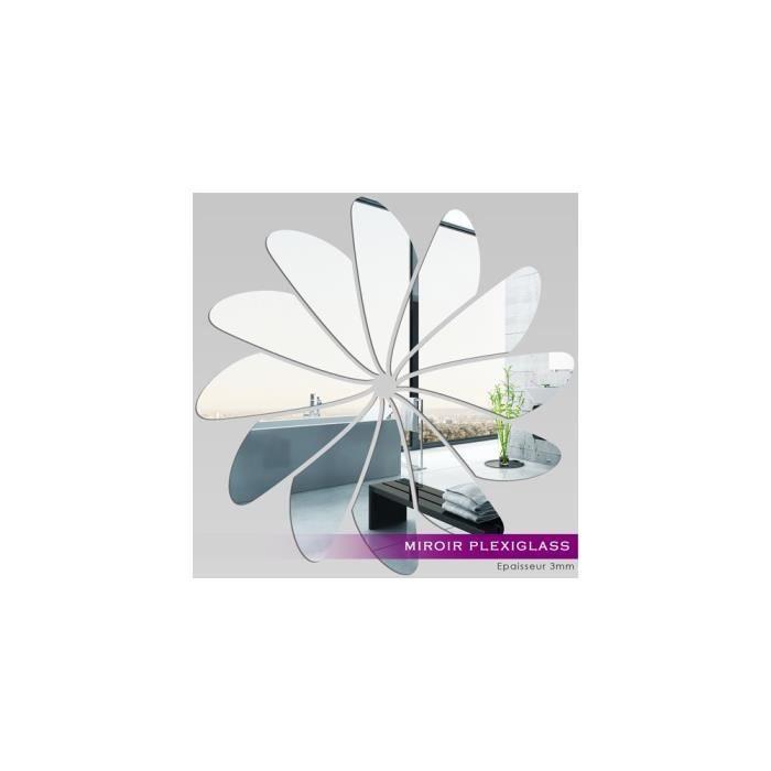 Miroir plexiglass acrylique fleur 1 ref mir 017 achat for Miroir qui s ouvre