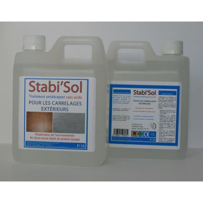 Traitement antid rapant stabi 39 sol p130 pour carrelage for Produit antiderapant pour carrelage exterieur