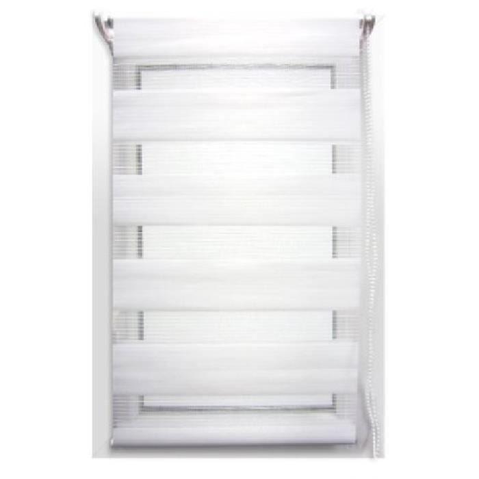 store enrouleur jour nuit 90 x h180 cm blanc achat vente store de fen tre cdiscount. Black Bedroom Furniture Sets. Home Design Ideas