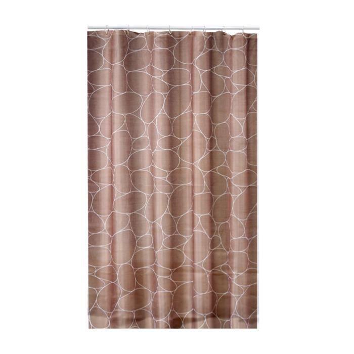 rideau de douche textile galets taupe achat vente rideau de douche cdiscount. Black Bedroom Furniture Sets. Home Design Ideas