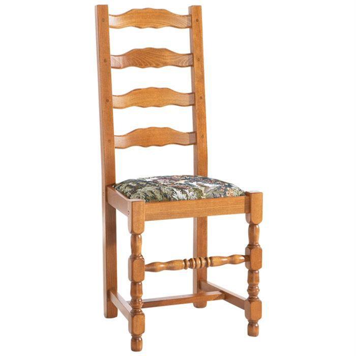 Lot de 6 chaises tissu style gobelin achat vente for Habillage de chaise en tissus