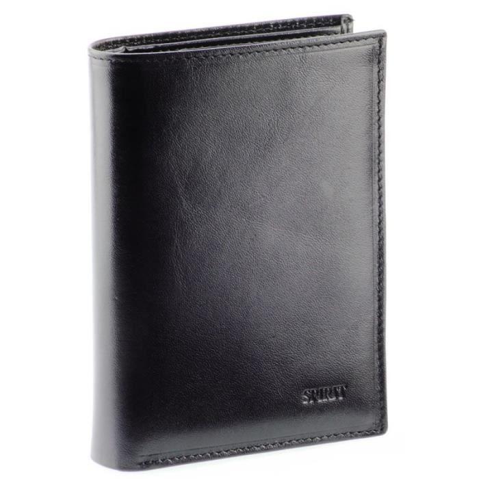 Portefeuille porte carte homme en cuir de vachette v ritable armando noir tu noir achat - Portefeuille porte carte homme ...