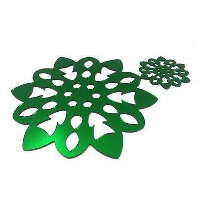 6 vert miroir flocon de neige napperons et sous ve achat for Miroir acrylique incassable