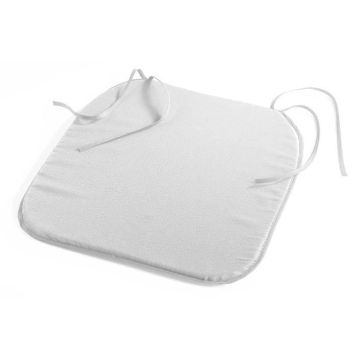 Galette de chaise 38x38 punchy blanc achat vente - Galette de chaise blanc ...