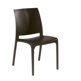 Chaise de jardin resine chocolat achat vente chaise - Chaise jardin resine ...