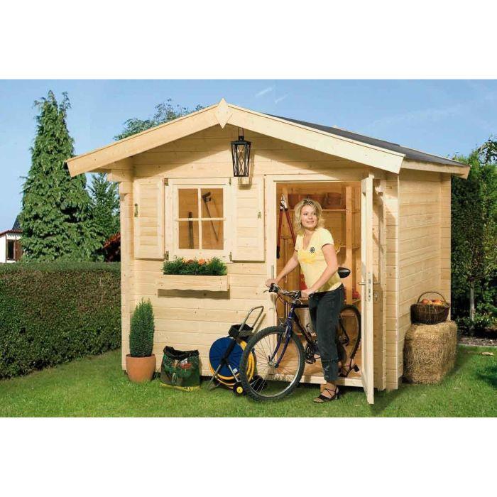 Abri de jardin en bois julchen 6 25m avec plan achat vente abri jardin chalet abri de for Abri de jardin en bois la redoute